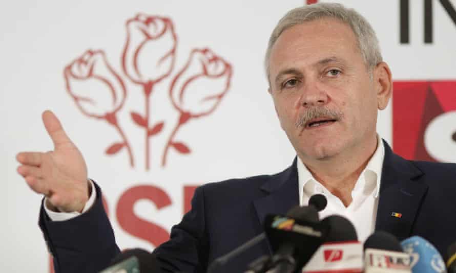 Leader of Romania's leftist Social Democrat Party (PSD), Liviu Dragnea