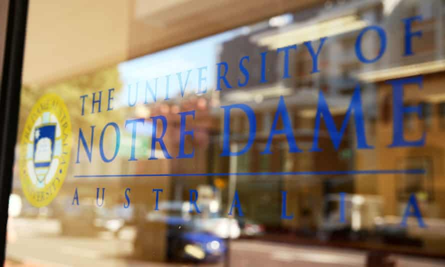 sign for Notre Dame University