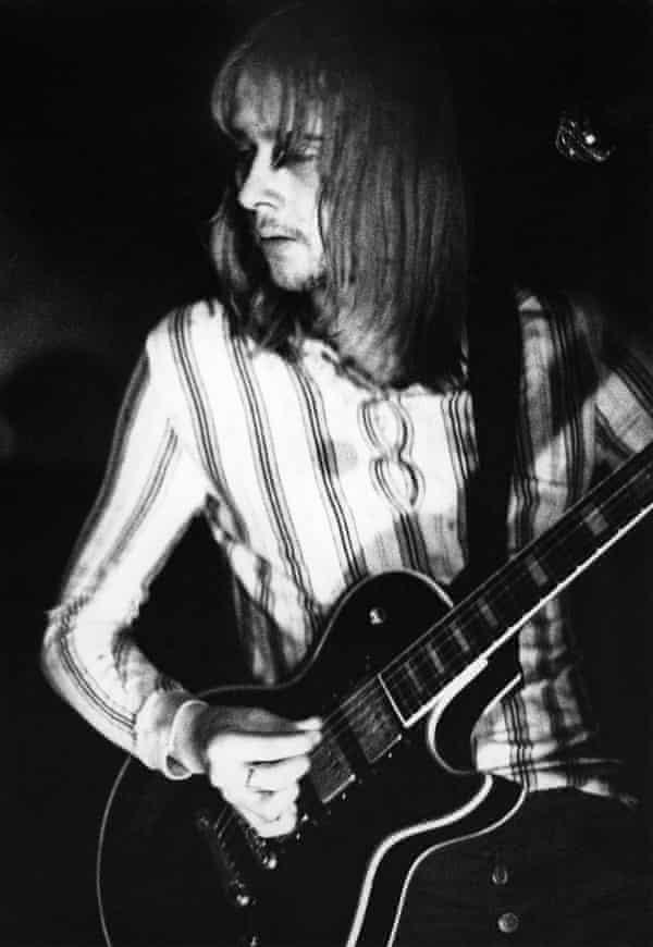 Danny Kirwan performing with Fleetwood Mac in 1972.