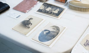 Several photos were part of 107 items in the suitcase.