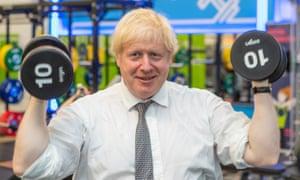 Boris Johnson in his South Ruislip constituency on 6 August.