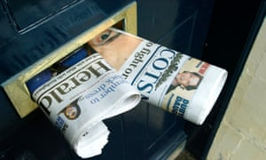 Scotland's traditional newspapers are coming under pressure from the growing success of the The Times' Scottish edition.