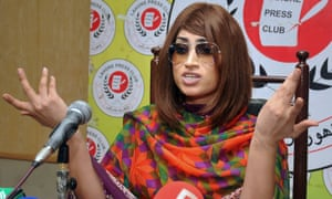 Qandeel Baloch in 2016, shortly before she was murdered.