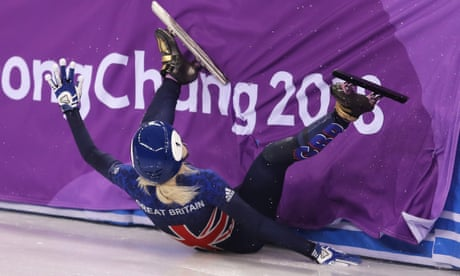 Winter Olympics 2018: Elise Christie crashes out of speed