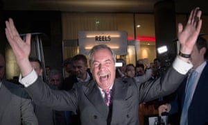 Ukip leader Nigel Farage claims victory for the leave campaign.