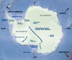 Map of the Antarctic continent