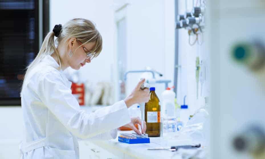 Scientist in a lab.