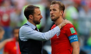 Gareth Southgate consoles Harry Kane after Eden Hazard sealed Belgium's win in the World Cup third-place play-off.