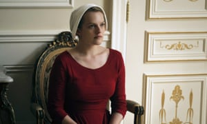 Elisabeth Moss in Hulu's The Handmaid's Tale. Original content defines a company and fuels subscriptions, says a Hulu executive.