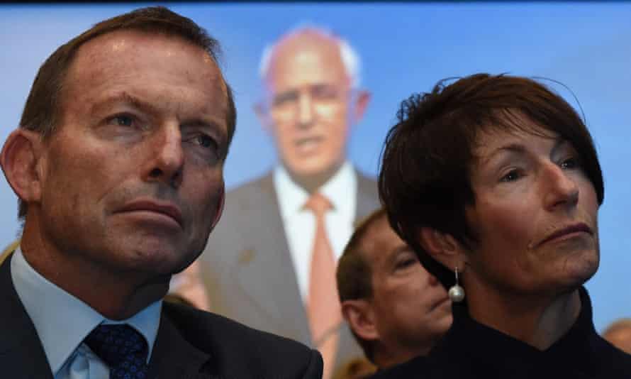 Tony Abbott, Malcolm Turnbull and Margie Abbott