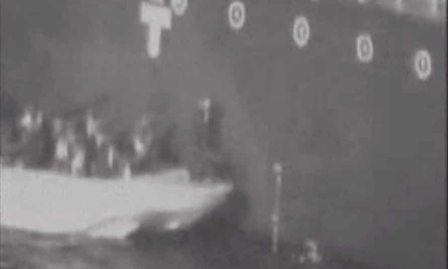 Still from US video of mine removal