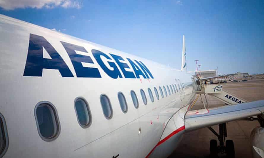 Aegean Airlines said it compensated the two men for the incident.