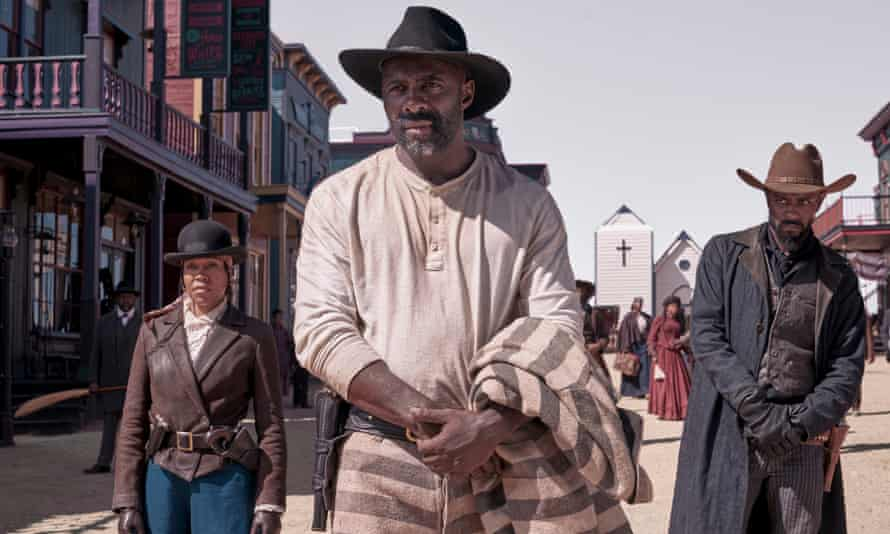 Idris Elba (centre) with Regina King and Lakeith Stanfield in The Harder They Fall, which will open the festival.