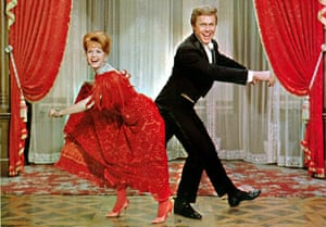 Debbie Reynolds and Harve Presnell in The Unsinkable Molly Brown, 1964.