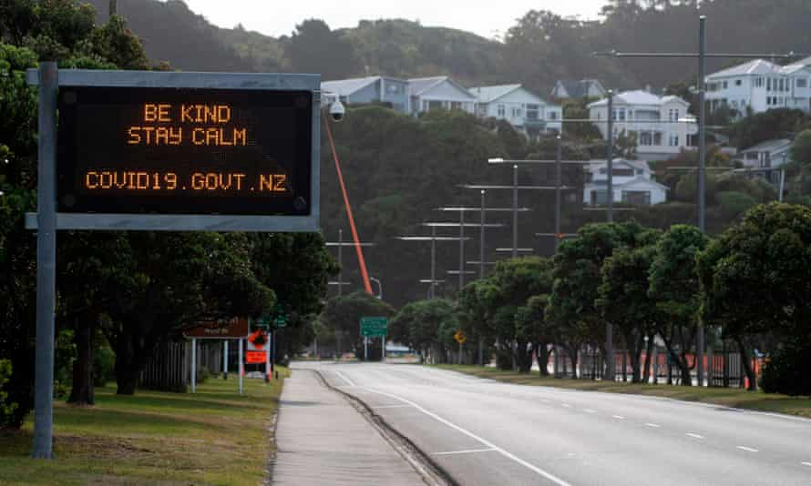 An empty road in Wellington, New Zealand, which is lifting some lockdown measures after crushing the coronavirus curve.