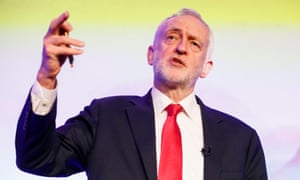 Jeremy Corbyn speaking at a conference in London on Tuesday.