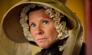 Miss Pole (Imelda Staunton) just makes the cut in Cranford, Elizabeth Gaskell's satirical sketches of small-town life.