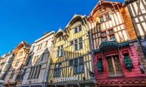 Timber-frame houses in Troyes.
