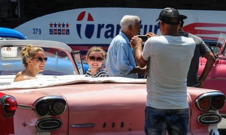 US tourist in Cuba