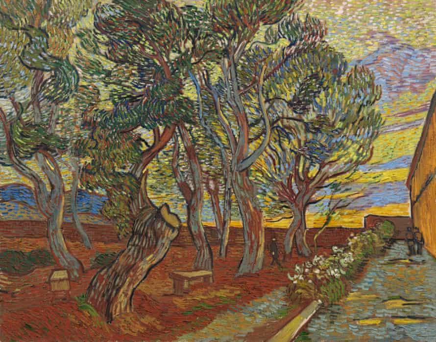 Van Gogh's The Garden of the Asylum (1889).