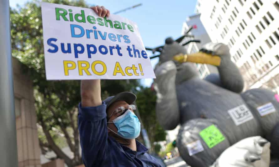 Union advocates say the New York bill would undermine the Pro Act, which would make it far easier to classify Uber and Lyft drivers and delivery workers as employees.