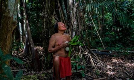 A Waiãpi man at the indigenous reserve in Amapá state in Brazil.