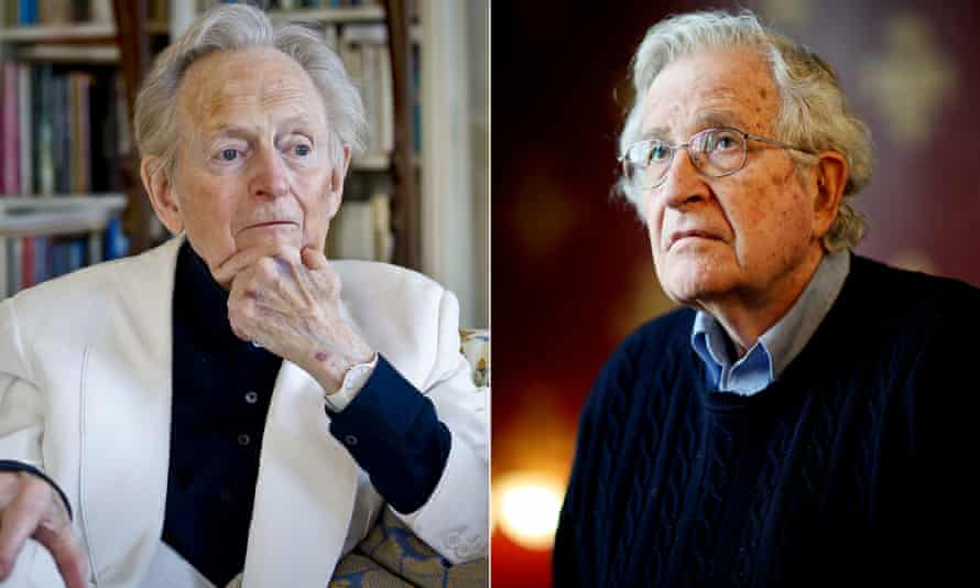 Tom Wolfe attacked Noam Chomsky's theory about the origin of language.