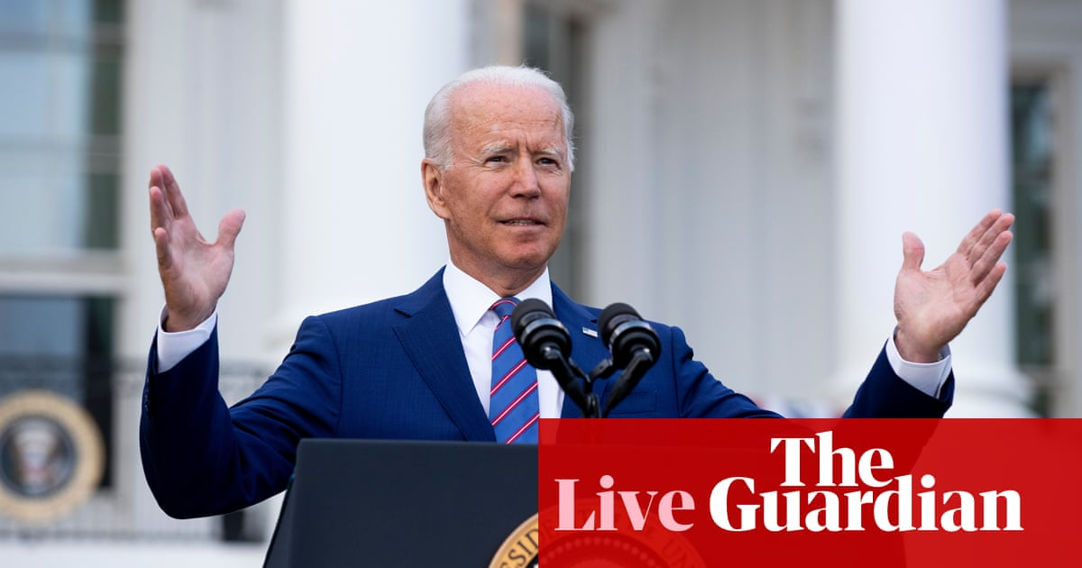 Biden to discuss Covid response after US misses vaccination target – live