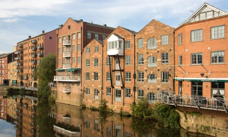 Waterfront apartments in Leeds.