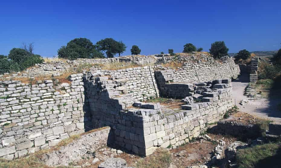The ruins of what is believed to be 'Troy VI' in Hisarlik, Turkey.