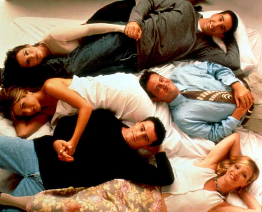 Friends … six white twentysomethings relying on tired old cadences for laughs?