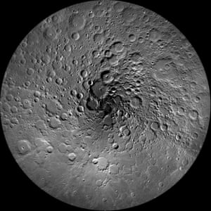 The Earth's moon has been an endless source of fascination for humanity for thousands of years. This image of the moon's north polar region was taken by the Lunar Reconnaissance Orbiter Camera.