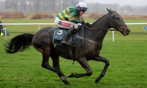 Buveur D'Air and Barry Geraghty win the Fighting Fifth Hurdle at Newcastle in December.