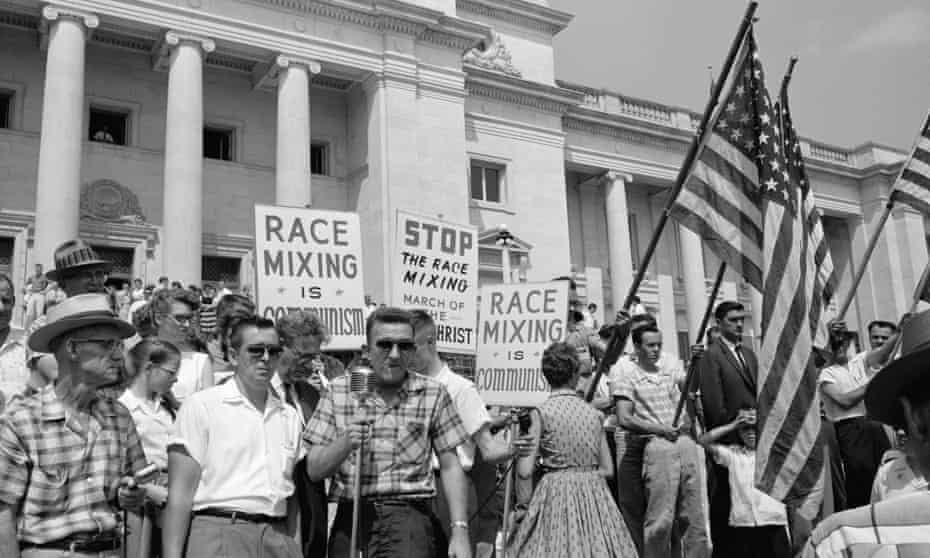 Protesters outside Central High School in Little Rock, Arkansas, 1959.