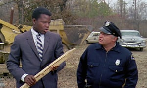 Sidney Poitier and Rod Steiger in In the Heat of the Night.
