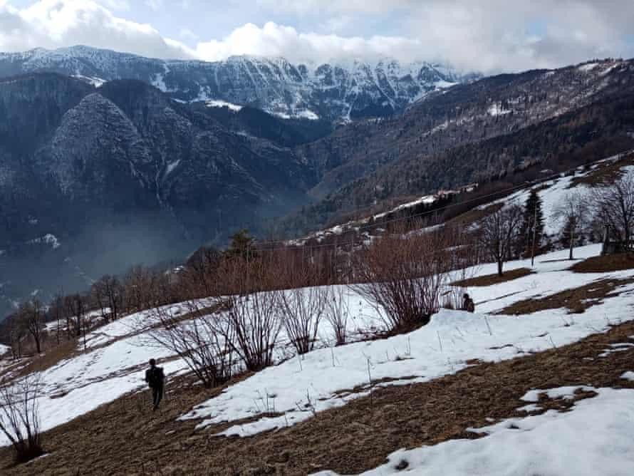 Stefania Travaglia searches for illegal traps in the mountains of Brescia