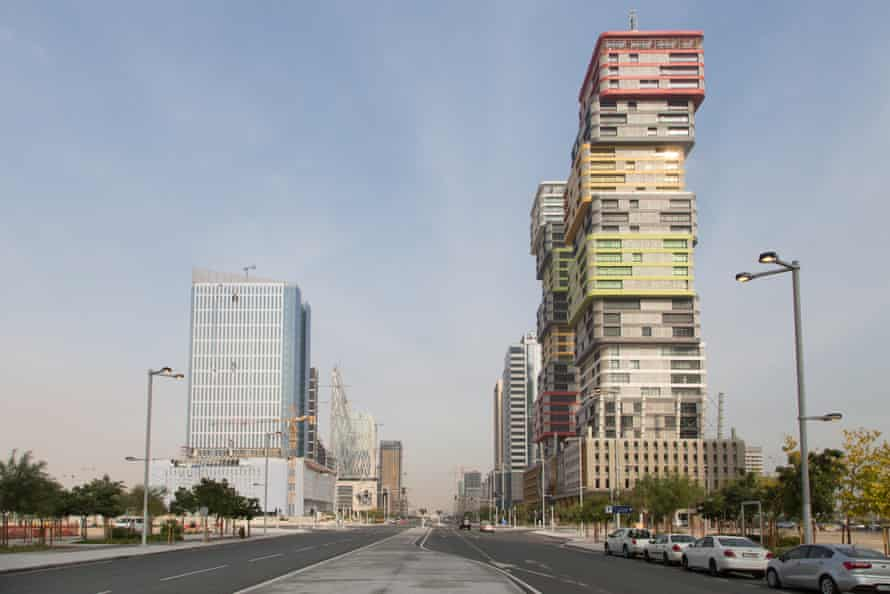 Lusail City overlooking Marina Twins Towers