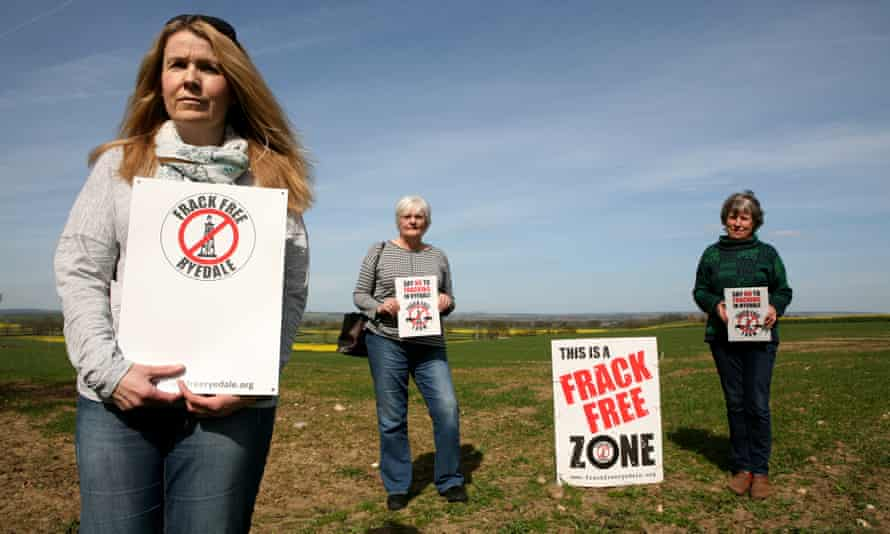 Anti-fracking campaigners in North Yorkshire