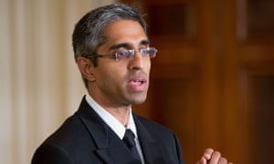 Surgeon general Vivek Murthy speaks earlier this month at the White House.