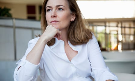 A woman looking pensive