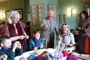 Cummock, Scotland. Prince Charles visits Dumfries House in Ayrshire to support a project that aims to turn an art installation into blankets for homeless people in Glasgow
