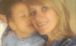 Liliya Breha with her son, Alex.