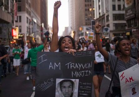 Demonstrators demand justice for Trayvon Martin