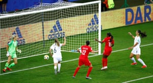 Nichelle Prince scores a deserved second for Canada.