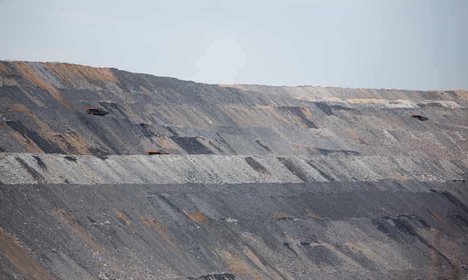 Mount Pleasant thermal coal open cut mine, near the town of Muswellbrook, Upper Hunter Valley, NSW, Australia.