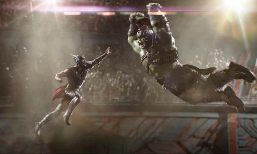 Comic timing .... Thor v Hulk.