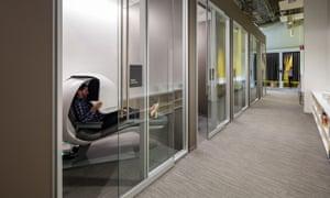 Sleeping on the job … a nap pod at Samsung HQ.