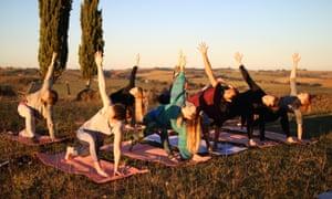 Rhik Samadder at the Chaya Retreat (Yoga)