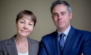 Caroline Lucas and Jonathan Bartley.