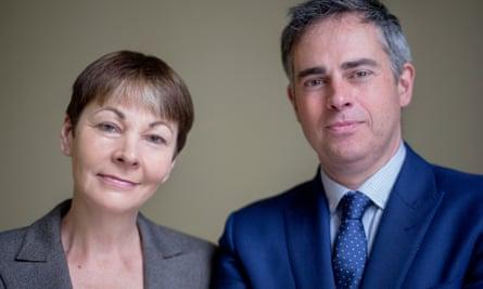 Caroline Lucas and Jonathan Bartley